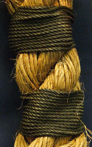 Manila Rope Knot Closeup